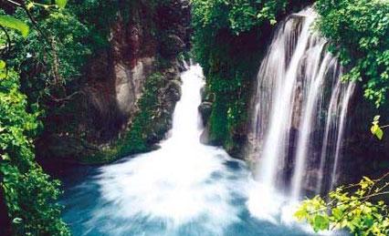 Vista de la cascada micos