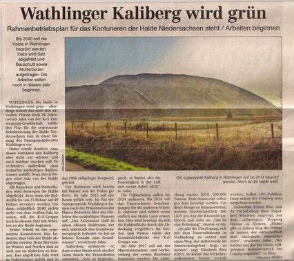 Quelle: Cellesche Zeitung, 02.10.2014