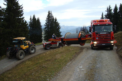 Seiltransport im Gebirge