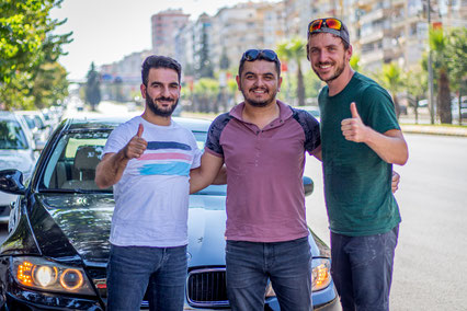 Beyram and Mehmet drove us to Sanliurfa