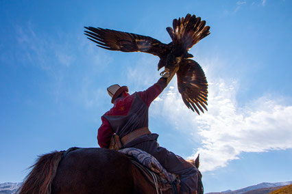Salavat was very proud of his strong eagle.