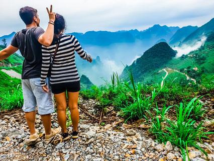 Aussicht am Ha Giang Loop