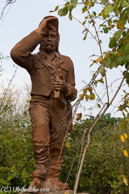 Statue von David Livingstone im Mosi oa Tunja National Park