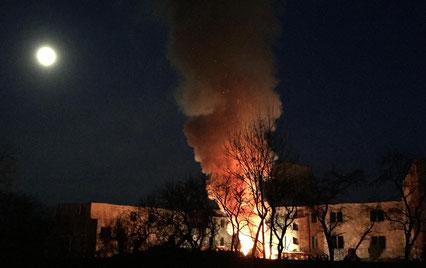 Pünktlich um 17:30 begann das Fest des Baum Verbrennens.