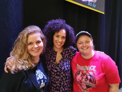 Conmose with Karyn Parsons at Brussels Comic Con 2020