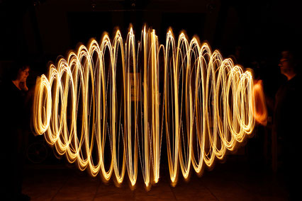 Bild: Lightpainting mit Lichterkette