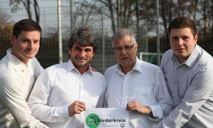 +++ Die vier Vorstände v.l.n.r.: Christoph Hieber, Albert Kürz, Martin Kuhn und Johannes Heer +++