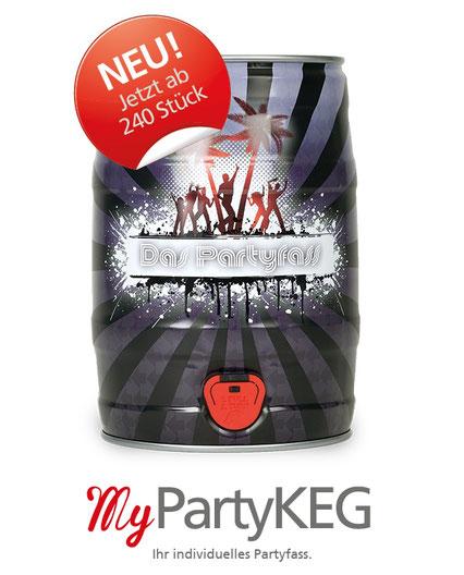 5 Liter Partyfass Bierfass Bierdose Metallverpackungen HUBER Packaging MyPartyKEG