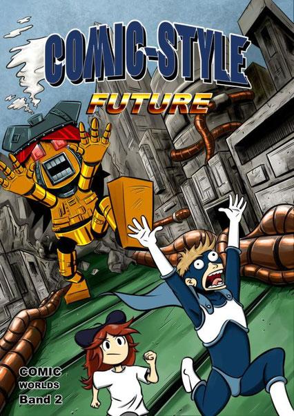 """Cover des 2. Sammelbandes """"COMIC WORLDS"""" der EUF"""