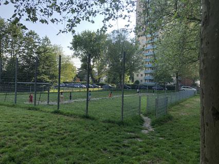 Der Bolzplatz Sagekuhle - wie hier häufig gut besucht - wird in einem Jahr einer Baustelle gewichen sein. Gibt es Ersatz? Wenn ja, wo? - Foto: SJR