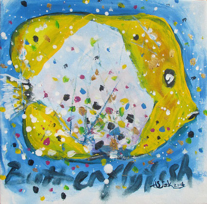 1. Butterfly fish                                 Huile sur toile                                                51 x 40.5 cm                                                      2016