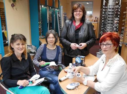 Tag der Menschen mit Sehbehinderung 2014 in Spremberg - Christine Bieder, Manuela Kühn, Heike Wocuznack, Monika Wagschal