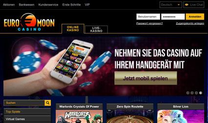 Euromoon Casino Lobby