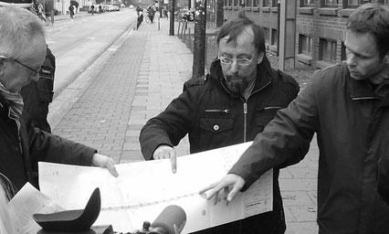 Peter Mester im Einsatz für die Neugestaltung der Admiralstraße (2010)