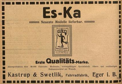 Quelle: Österr. Nationalbibliothek, Österreichische Fahrrad- und Automobil-Zeitung, 15. Februar 1913.