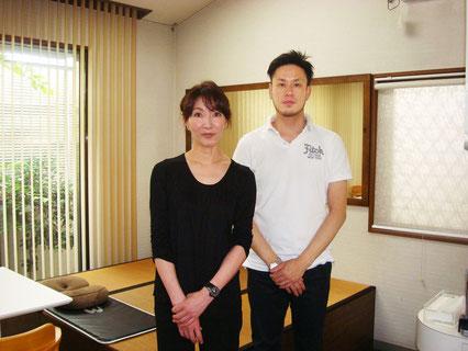 ※「まん福亭」着付け美容教室講師の吉田と代表です。
