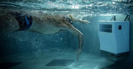Swimming demi rattrapé en contre courant