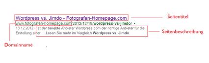 So erscheint Ihre Seite in der Google-Suche