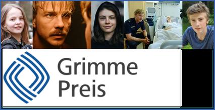 von links: Lilli © Markus Kayl, Albrecht Schuch © ZDF, Lilli Biedermann ©, Albrecht Schuch & Lilli Biedermann © ZDF, Florian Burgkart © R. Burgkart, unten: Logo Grimme-Preis ©