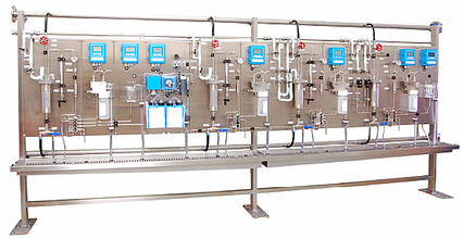 Mechatest SWAS Rack - Steam & Water Analysis Systems, modern SWAS, SWAS system for power plants, steam condensate analyser system, rack mounted, container shelter SWAS, ASME PTC 19.11 and VGB S-006