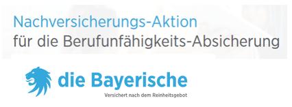 berufsunfähigkeitsversicherung bayerische nachversicherung