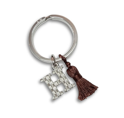 Silber Schlüsselanhänger Buchstabe personalisiert