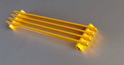 Feines Lamellengitter, Einbautiefe 20 mm
