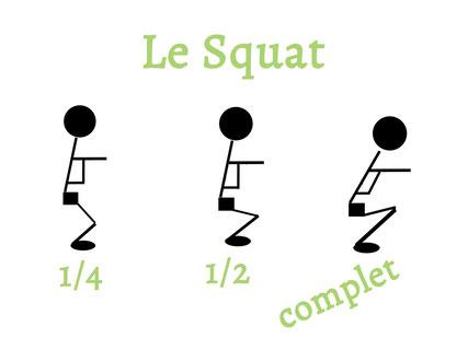 comparaison des amplitudes lors d'un squat.
