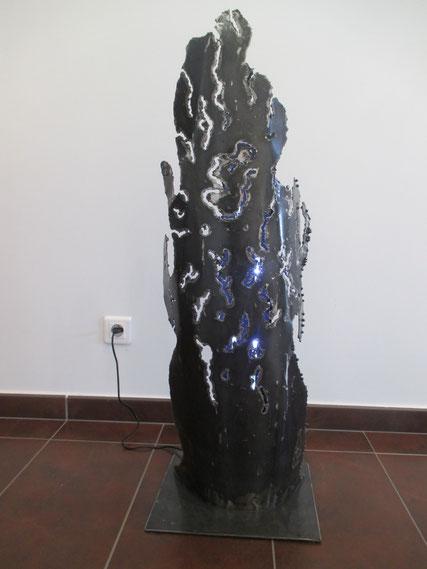 lampe d'intérieur façon algues acier verni ruban led ambiance