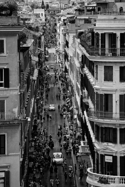Rom / Piazza di Spagna, Blick von der Spanischen Treppe, 2014, © Silly Photography