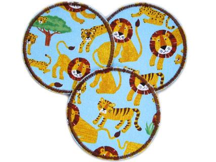 Bild: Safari Hosenflicken für Kinder zum aufbügeln, Ficken mit Tiger und Löwe