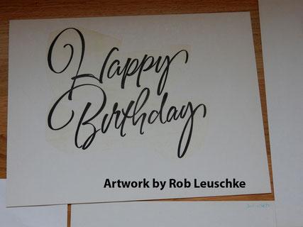 Letterings von Rob Leuschke