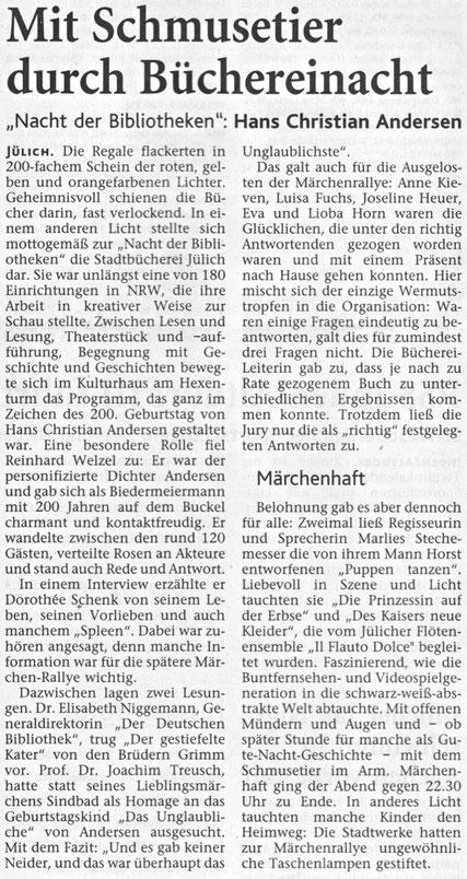 Jülicher Zeitung und Jülicher Nachrichten vom 3.11.2005