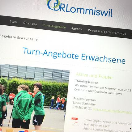 Druckatelier46 Mülchi - Foto neuer Werbeauftritt Damenriege Lommiswil