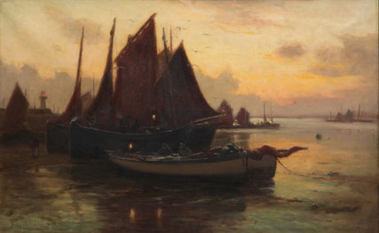 John Noble Barlow  'The Return of the Fleet. St Ives - Early Morning'  (RA 1902)