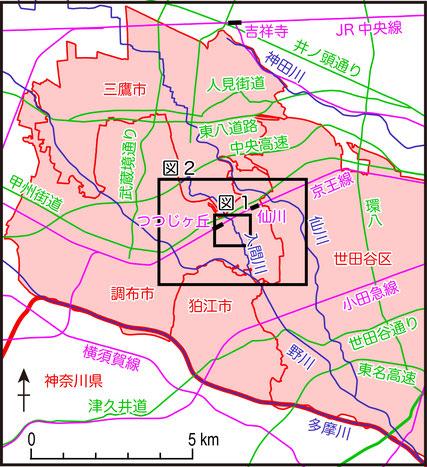 図 つつじヶ丘の位置図