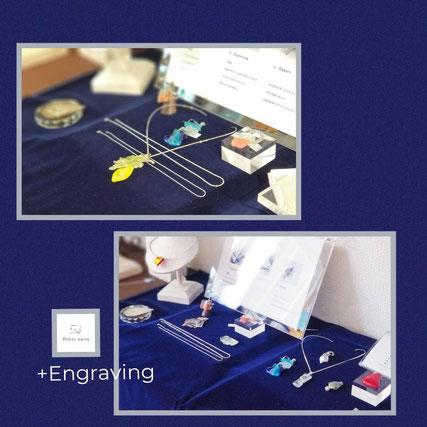 ◆2019スタート!ガラスと彫金のコラボレーション(+Engraving)◆多くのお客様のもとへ♡◆orderも順次制作進めてまいります(^^)/