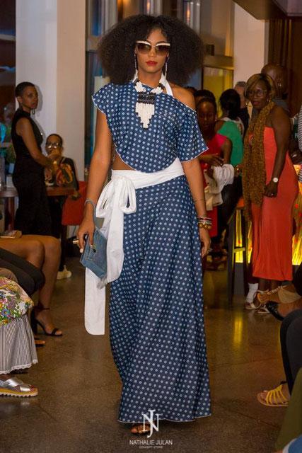 L'une des créations de la marque Kinté lors du défilé de mode de Nathalie Julan Concept store le 1er décembre.