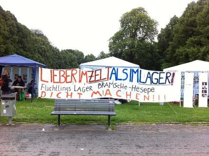 Besetzung des Schloßgartens