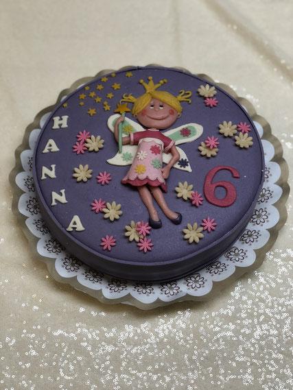 Kindergeburtstag Torte, kindergeburtstagstorte rosa, Marzipanblüten, Geburtstagstorte Kind, Geburtstagskuchen