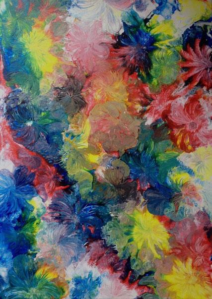 Blumen meiner Seele, Acryl auf Leinwand 50x70 cm