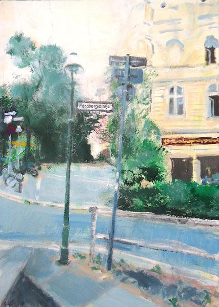 Friedbergstraße . 70 x 50 cm Acryl auf Leinwand . VERKAUFT