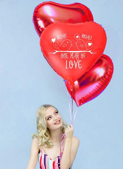 Ballon Luftballon Heliumballon Deko Dekoration Überraschung Mitbringsel Ballonpost Ballongruß Versand verschicken Ich liebe dich Jahrestag Buchstaben Geburtstag Jahrestag Hochzeitstag Geschenk Idee Ballonpost Bouquet Heliumballons personalisiert