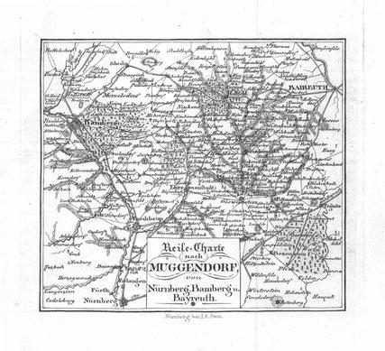 Reise-Charte nach Muggendorf