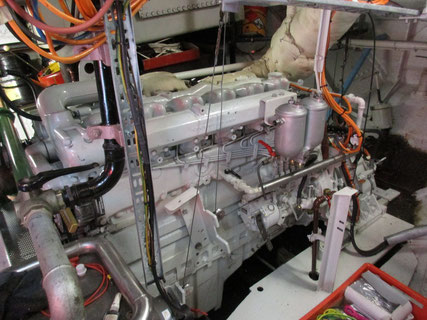Der Maschinenraum von FORTUNA