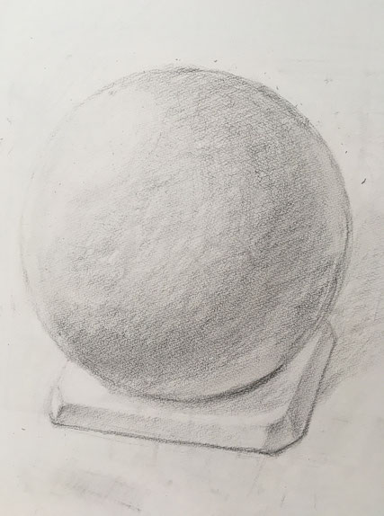 球体デッサン