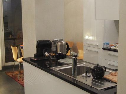 Nice Centre-Luxe-Terrasse - Cuisine-salle à manger, de nuit
