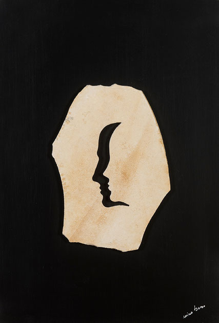 Quadro scultura - Profili - Composizione  positivo negativo