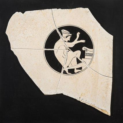 Quadro scultura - figura attica  - ceramica greca antica