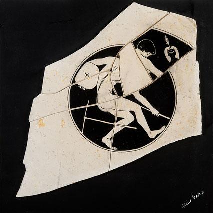 Quadro scultura - Composizione con  Figura Attica